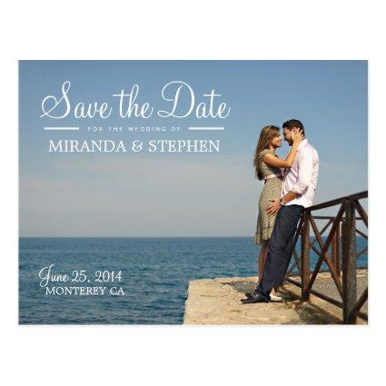 Sweet Modern Wedding Save the Date Photo Cards