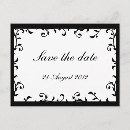 Swirls Transparent White Save the Date Cards