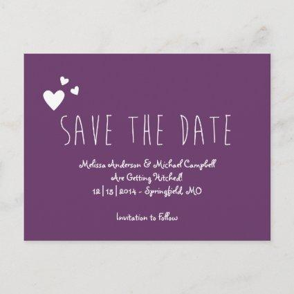 Tall Skinny Save The Date Announcements Cards