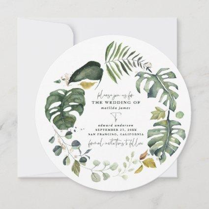 Tangerine watercolor floral wedding save the date