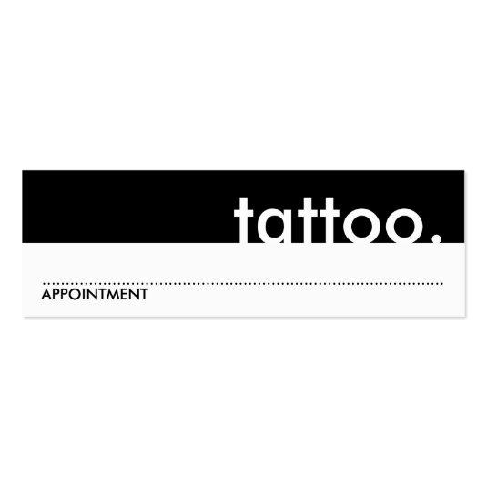 Tattoo appointment cards mini business cards save the date cards appointment cards mini business cards colourmoves Images