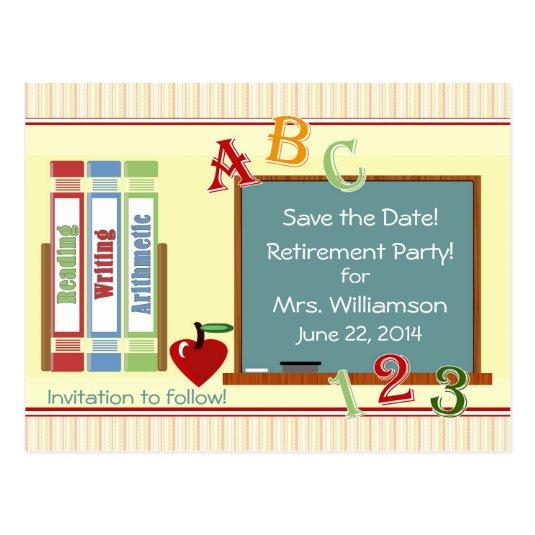 teacher retirement save the date cards save the date cards