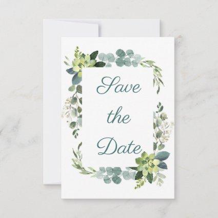 Teal Bouquet Reception - 3x5 Save the Date RSVP Card