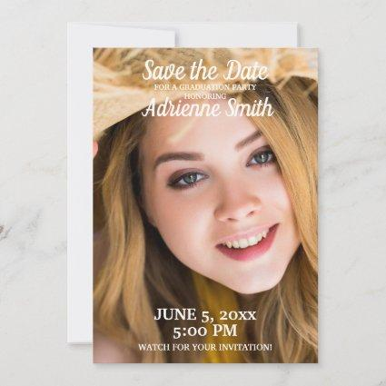 Teal Jade Graduation Party Save Date Photo Save The Date