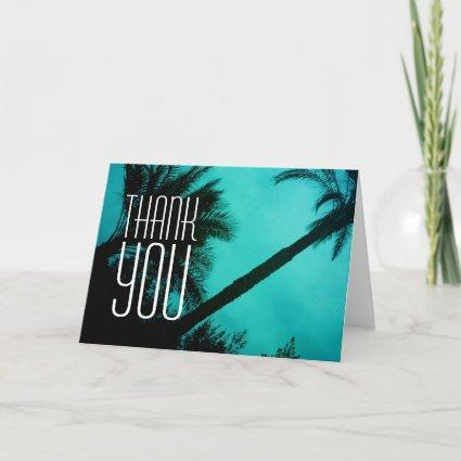 Thank You Palm Trees Greeting Cards