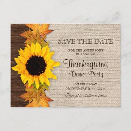 Thanksgiving Dinner Party Invitation Save The Date