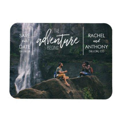 The Adventure Begins | Wedding Save the Date Magnets
