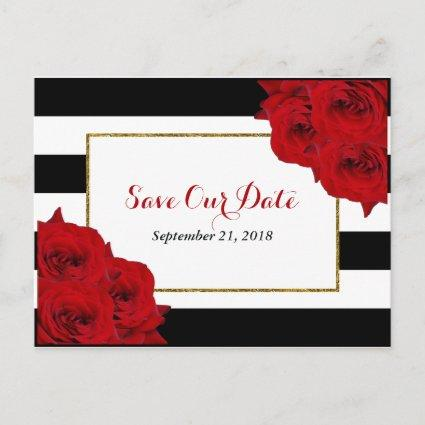 The Chic Modern Luxe Wedding Collection- Red Roses Announcement