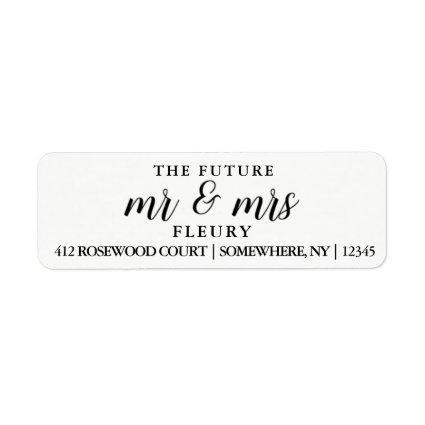 The Future Mr and Mrs Return Address Labels Small