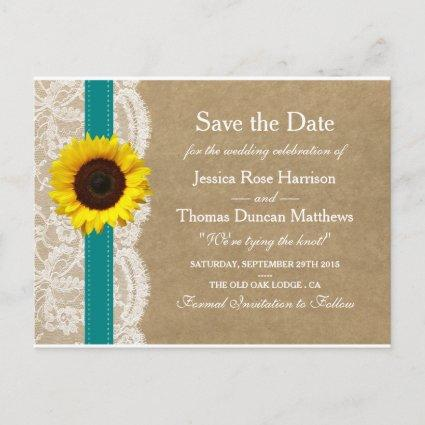 The Kraft, Lace & Sunflower Collection - Teal Announcement