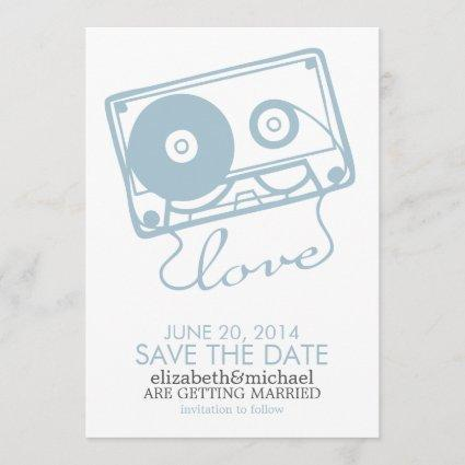 The Perfect Mix Wedding Save the Date {light blue}