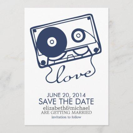 The Perfect Mix Wedding Save the Date {navy blue}