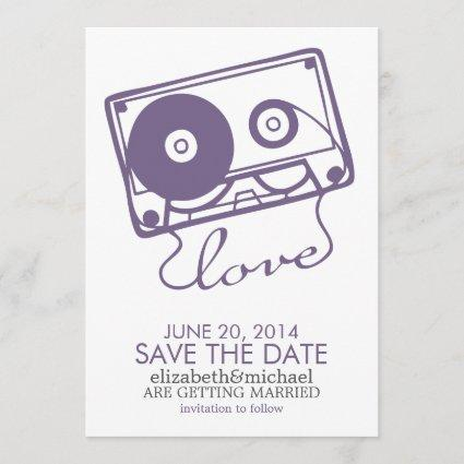 The Perfect Mix Wedding Save the Date {purple}