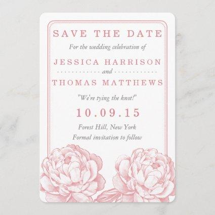 The Pretty Peony Floral Wedding Collection Save The Date