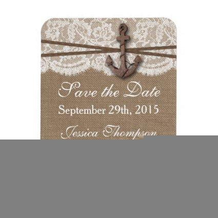 The Rustic Nautical Anchor Wedding Collection Magnet