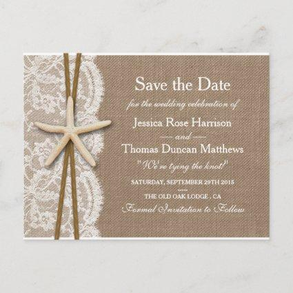 The Rustic Starfish Collection Save The Date Announcements Cards