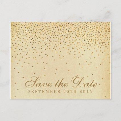 The Vintage Glam Gold Confetti Wedding Collection Announcement