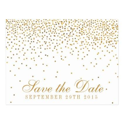 The Vintage Glam Gold Confetti Wedding Collection Cards