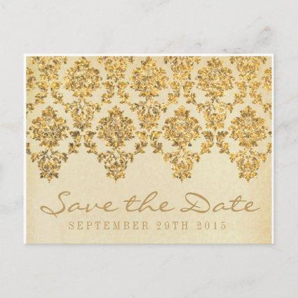 The Vintage Glam Gold Damask Wedding Collection Announcement