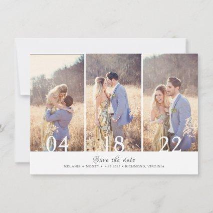 Three Photo Collage Wedding Save the Date