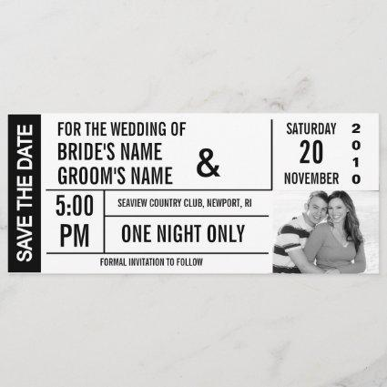 Ticket Design Save the Date Photo