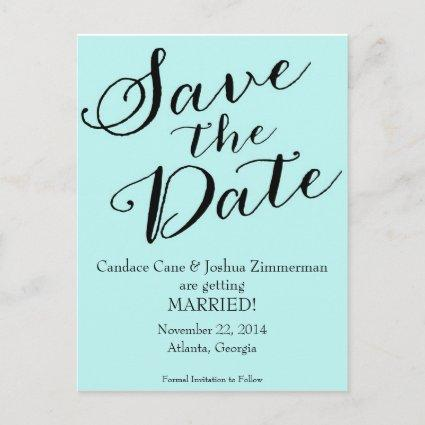 Tiffany Blue Save the Date Announcements Cards