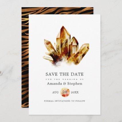 Tiger's Eye Crystals Wedding Save The Date