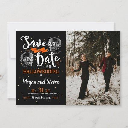 Til Death Do Us Party Halloween Save The Date