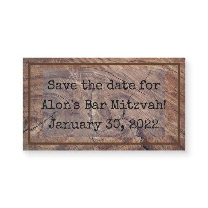 Timberlines Magnetic Save the Date Card