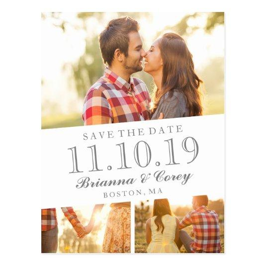 Timeless 3-Photo Save the Date Cards