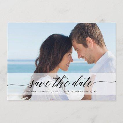 Timeless Chic Save the Date Photo Announcements