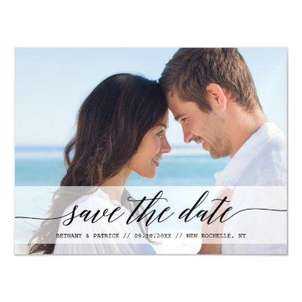 Timeless Chic Save the Date Photo Announcement