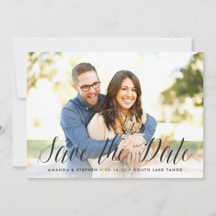 Timeless Script | Photo Save the Date