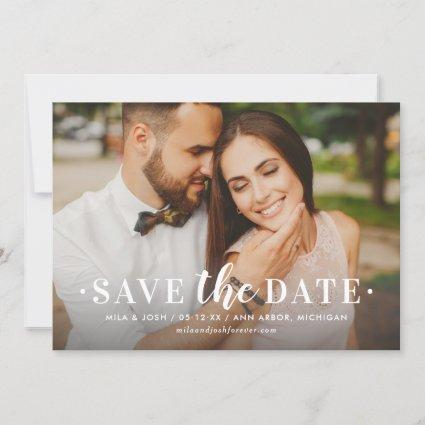 Timeless Type | Wedding Photo Save The Date