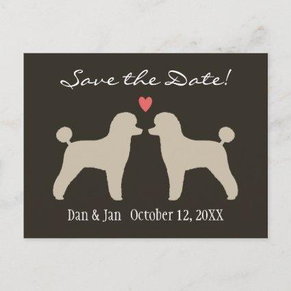 Toy Poodles Wedding Save the Date Announcement