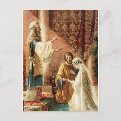 Traditional Catholic SAVE THE DATE Wedding Announcement