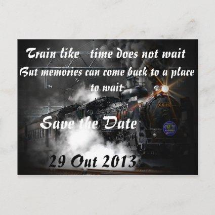 Train like   time does not wait announcement