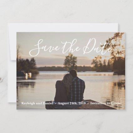 Tranquil Waters Lake Beach Ocean Save The Date