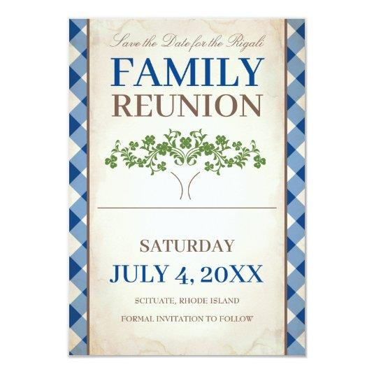 Tree Family Reunion Save The Date Invitation