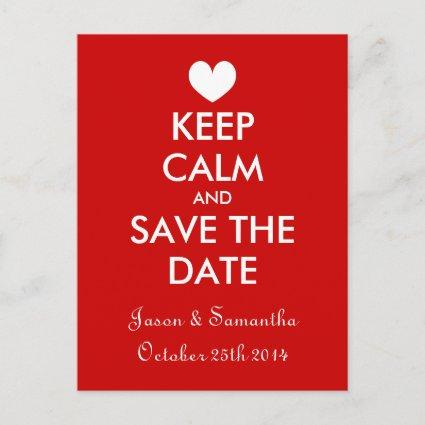 Trendy and fun keep calm save the date Cards