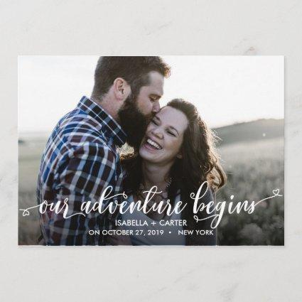 TRENDY OUR ADVENTURE BEGINS PHOTO SAVE THE DATE