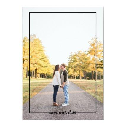 Trendy Save our date 2 sided photo card