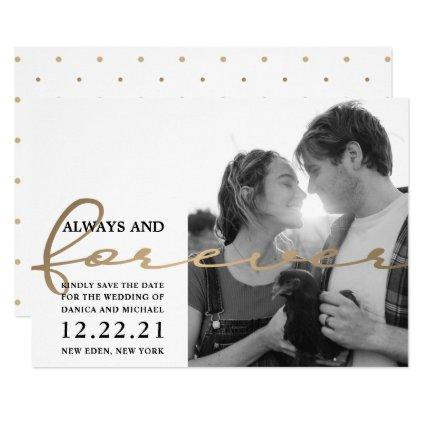 Trendy Save The Date Cute Couple Photo Invitation