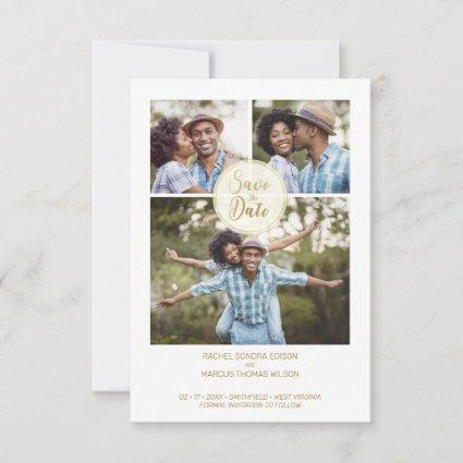 Trendy Three Photos Instant Engagement Session Save The Date
