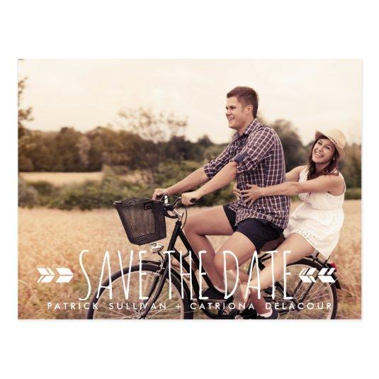 TRIBAL ARROWS PATTERN PHOTO SAVE THE DATE Cards