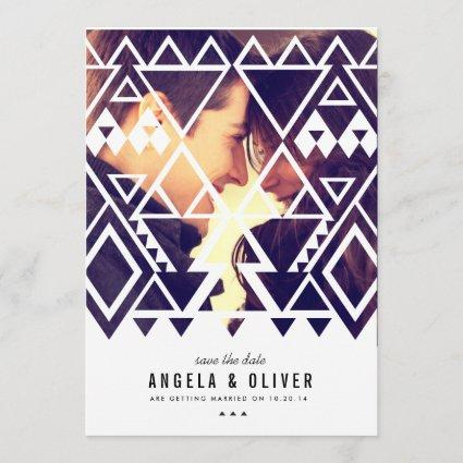 Tribal Cutout Save the Date
