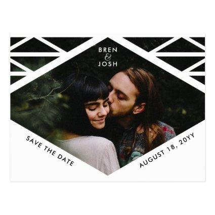 Tribal Triangle Pattern Photo Save the Date