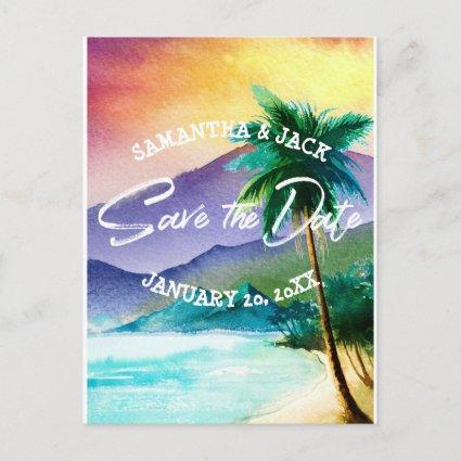 Tropical Destination Wedding | Save the Date Announcement