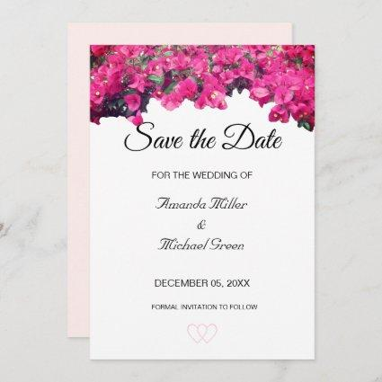 Tropical Floral Wedding Save the Date Invitation
