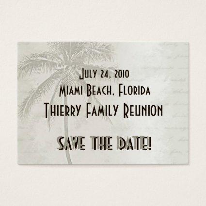 Tropical Save the Date (taupe)
